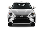 Car photography straight front view of a 2017 Lexus RX 350 L 5 Door SUV