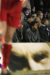 Birmingham City 0 Liverpool 7, 21/03/2006. St Andrews, FA Cup 6th Round. Birmingham City (blue) versus Liverpool,  The home side lost 0-7. Picture shows City fans distracted during the match. Photo by Colin McPherson.