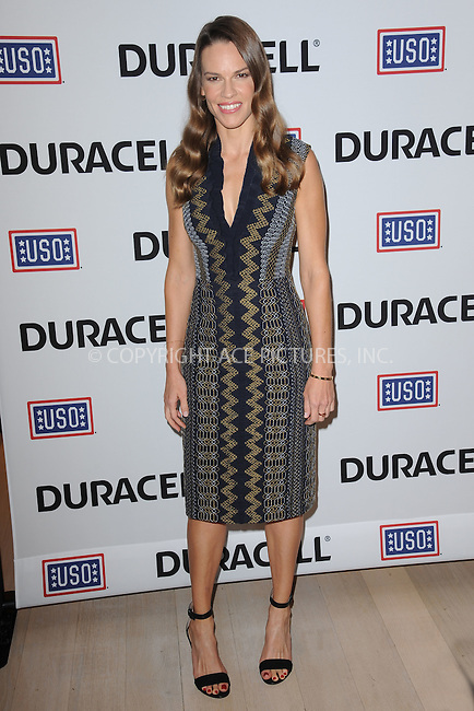 WWW.ACEPIXS.COM<br /> July 2, 2015 New York City<br /> <br /> Hilary Swank joins Duracell at the premiere of their new film supporting the USO at TimesCenter on July 2, 2015 in New York City.<br /> <br /> Credit: Kristin Callahan/ACE Pictures<br /> <br /> Tel: 646 769 0430<br /> e-mail: info@acepixs.com<br /> web: http://www.acepixs.com