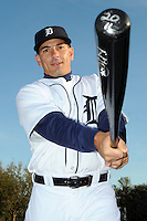 Feb 21, 2009; Lakeland, FL, USA; The Detroit Tigers catcher Matt Treanor (20) during photoday at Tigertown. Mandatory Credit: Tomasso De Rosa/ Four Seam Images