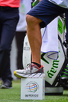 Phil Mickelson's (USA) caddie, &quot;Bones&quot; is sporting scars on both knees after have double knee replacement in the off season and were quite visible during round 3 of the World Golf Championships, Mexico, Club De Golf Chapultepec, Mexico City, Mexico. 3/4/2017.<br /> Picture: Golffile | Ken Murray<br /> <br /> <br /> All photo usage must carry mandatory copyright credit (&copy; Golffile | Ken Murray)