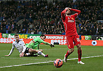 Fabio Borini of Liverpool reacts after missing a chance to score - FA Cup Fourth Round replay - Bolton Wanderers vs Liverpool - Macron Stadium  - Bolton - England - 4th February 2015 - Picture Simon Bellis/Sportimage
