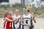 San Diego, CA 05/21/11 - Carissa Fisher (Cathedral Catholic #1) and Lauren Maack (Coronado #4) in action during the 2011 CIF San Diego Division 2 Girls lacrosse finals between Cathedral Catholic and Coronado.