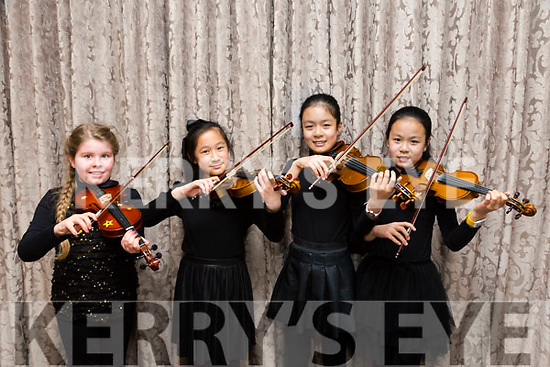 Kerry School of Music Concert at the Rose Hotel on Sunday Pictured l-r Shauna Murphy, Mengeting Wang, Yuki Wang and Yula Wang