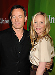 PASADENA, CA - JANUARY 15: Actors Jason Isaacs (L) and Anne Heche attend the NBCUniversal 2015 Press Tour at the Langham Huntington Hotel on January 15, 2015 in Pasadena, California.