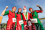 Julie Deenihan, Sandra O'Riordan, Damien Kissane and Audrey Rigney, all from Tralee, pictured at the Santa Fun Run, in aid of Barretstown, starting from the Tralee Bay Wetlands, on Sunday last.