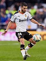 9th November 2019; Mestalla, Valencia, Spain; La Liga Football,Valencia versus Granada; Jose Gaya of Valencia CF controls the ball to clear danger - Editorial Use