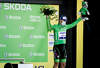 Green Jersey Sam Bennett (IRE/Deceuninck-Quick Step) on the podium<br /> <br /> <br /> Stage 19 from Bourg-en-Bresse to Champagnole (167km)<br /> <br /> 107th Tour de France 2020 (2.UWT)<br /> (the 'postponed edition' held in september)<br /> <br /> ©kramon