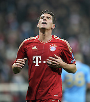 Fussball Uefa Champions League 2011/12: FC Bayern Muenchen - SSC Neapel