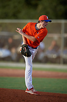 Tate Copeland (40) during the WWBA World Championship at the Roger Dean Complex on October 10, 2019 in Jupiter, Florida.  Tate Copeland attends The Prout High School in Middletown, RI and is committed to Quinnipiac.  (Mike Janes/Four Seam Images)