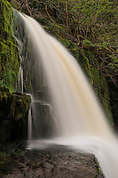 Sgwd Clun-Gwyn Waterfall - Afon Mellte river, near Ystradfellte, Brecon Beacons national park, Wales