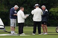 Pitch inspection during Brentwood CC vs Wanstead and Snaresbrook CC (batting), Shepherd Neame Essex League Cricket at The Old County Ground on 11th May 2019
