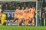 13.01.2018, Weserstadion, Bremen, GER, 1.FBL, SV Werder Bremen vs TSG 1899 Hoffenheim<br /> <br /> im Bild<br /> Benjamin H&uuml;bner / Huebner (1899 Hoffenheim #21) bejubelt seinen Treffer zum 0:1 mit Teamkollegen Lukas Rupp (1899 Hoffenheim #07), Mark Uth (1899 Hoffenheim #19), Dennis Geiger (1899 Hoffenheim #32), <br /> <br /> Foto &copy; nordphoto / Ewert