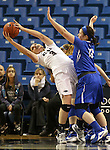 Nevada's Teige Zeller reaches for a rebound against Air Force's Sarah Fotsch during a women's basketball game in Reno, Nev., on Saturday, Jan. 9, 2016. Nevada won 68-57.<br /> Photo by Cathleen Allison