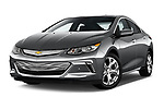 Stock pictures of low aggressive front three quarter view of 2018 Chevrolet Volt Premier 5 Door Hatchback Low Aggressive