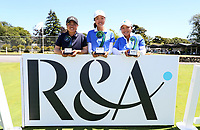 Yuka Saso of the Philippines (2nd), Grace Kim of Australia (1st) Doey Choi of Australia (3rd) during the Annika Invitational Golf Tournament at  Royal Wellington Golf Course, Wellington, New Zealand. Sunday 16 December 2018. Photo: Simon Watts/www.bwmedia.co.nz
