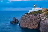 Cabo de Sao Vicente Lighthouse, Portugal Europe's Southwesternmost point, Rebuilt in 1846