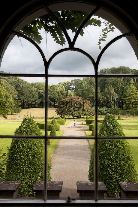 A view from one of the windows over the garden, which was re-landscaped in the early nineteenth century by John Fraunceis