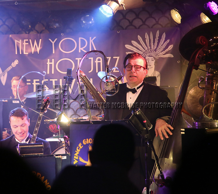 Vince Giordano & the Nighthawks performs at the New York Hot Jazz Festival own September 30, 2018 at The McKittrick Hotel in New York City.
