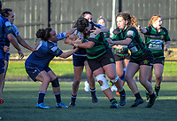 Action from the Auckland Women's Rugby premier match between College Rifles and East Coast Bays at College Rifles Park in Auckland, New Zealand on Saturday, 9 June 2018. Photo: Dave Lintott / lintottphoto.co.nz