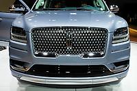 NEW YORK, NY - APRIL 12: Lincoln Navigator is displayed at the New York International Auto Show, at the Jacob K. Javits Convention Center on April 12, 2017 in Manhattan, New York. Photo by VIEWpress/Eduardo MunozAlvarez