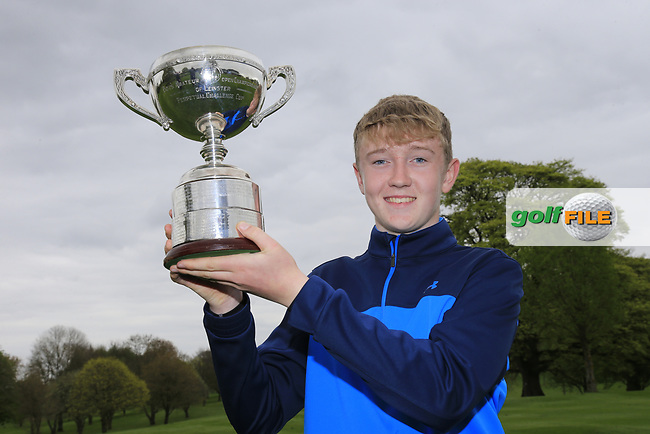 Aaron Marshall (Lisburn) with the 2017 Leinster Boys Amateur Open Championship trophy after his victory at Headfort Golf Club in the final round of the Leinster Boys Amateur Open Championship, Headford Golf Club, Kells, Co. Meath. 21/04/2017.<br /> Picture: Golffile | Fran Caffrey<br /> <br /> <br /> All photo usage must carry mandatory copyright credit (&copy; Golffile | Fran Caffrey)