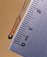 THERMISTOR<br /> Used To Measure Or Control Temperature<br /> A thermistor is temperature sensitive element which exhibits change in resistance proportional to change in temperature. Electrical conductivity increases with temperature.