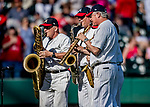 25 February 2019: The Walt Disney Philharmonic Brass Quartet entertain fans between innings of a pre-season Spring Training game between the Washington Nationals and the Atlanta Braves at Champion Stadium in the ESPN Wide World of Sports Complex in Kissimmee, Florida. The Braves defeated the Nationals 9-4 in Grapefruit League play in what will be their last season at the Disney / ESPN Wide World of Sports complex. Mandatory Credit: Ed Wolfstein Photo *** RAW (NEF) Image File Available ***