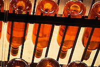 Chateau d'Yquem 1916 1917 1918 Lur Saluces, Sauternes, Bordeaux in a collection of all vintages of Bordeaux first growth bottles. Seen from below  Ulriksdal Ulriksdals Wärdshus Värdshus Wardshus Vardshus Restaurant, Stockholm, Sweden, Sverige, Europe