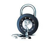 Melting of combination lock depicting huge expenses