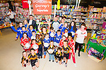 Kerry footballer Barry John Keane with Jim Garvey (director Gravey's Supervalu) and Tim Moynihan (Garveys Supervalu) present GAA Kits to Three local Gaa Clubs Austin Stacks, St. Brendans, Blennervile,  Kerins O'Rahillys winners of the Garvey's  Supervalu GAA Kits for Kids