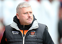 Blackpool's Manager Terry McPhillips looks on before kick off<br /> <br /> Photographer David Shipman/CameraSport<br /> <br /> The EFL Sky Bet League One - Charlton Athletic v Blackpool - Saturday 16th February 2019 - The Valley - London<br /> <br /> World Copyright © 2019 CameraSport. All rights reserved. 43 Linden Ave. Countesthorpe. Leicester. England. LE8 5PG - Tel: +44 (0) 116 277 4147 - admin@camerasport.com - www.camerasport.com