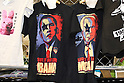May 15, 2010 - Tokyo, Japan - Tee-shirts featuring President of the United States Barack Obama and senior United States Senator from Arizona John McCain are pictured at Design Festa at Tokyo Big Sight in Tokyo, Japan, on May 15 2010. The biannually International Art Event that began in 1994 runs from May 15-16, and gives to nearly 8,500 artists working in a variety of mediums an opportunity to showcase their work.