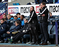 Bolton Wanderers' manager Phil Parkinson with assistant manager Steve Parkin  <br /> <br /> Photographer Andrew Kearns/CameraSport<br /> <br /> The EFL Sky Bet Championship - Bolton Wanderers v Preston North End - Saturday 9th February 2019 - University of Bolton Stadium - Bolton<br /> <br /> World Copyright &copy; 2019 CameraSport. All rights reserved. 43 Linden Ave. Countesthorpe. Leicester. England. LE8 5PG - Tel: +44 (0) 116 277 4147 - admin@camerasport.com - www.camerasport.com