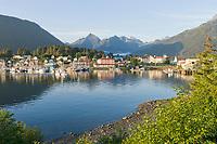 Sitka Channel and boat harbor, Pioneer Home, Sitka, Alaska