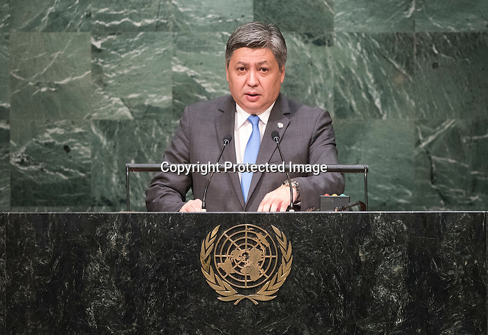 Kyrgyzstan<br /> H.E. Mr. Erlan Abdyldayev<br /> Minister of Foreign Affairs<br /> - See more at: http://gadebate.un.org/listbydate/2015-10-01#sthash.xZgvULku.dpuf