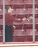 Mike Feeley (BC - Student Manager) - The Boston College Eagles defeated the University of Massachusetts-Amherst Minutemen 6-5 on Friday, March 12, 2010, in the opening game of their Hockey East Quarterfinal matchup at Conte Forum in Chestnut Hill, Massachusetts.