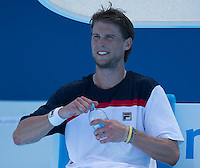 Andreas Seppi..Tennis - Australian Open - Grand Slam -  Melbourne Park  2013 -  Melbourne - Australia - Saturday 19th January  2013. .© AMN Images, 30, Cleveland Street, London, W1T 4JD.Tel - +44 20 7907 6387.mfrey@advantagemedianet.com.www.amnimages.photoshelter.com.www.advantagemedianet.com.www.tennishead.net