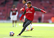 9th September 2017, Emirates Stadium, London, England; EPL Premier League Football, Arsenal versus Bournemouth; Alexis Sanchez of Arsenal during pre match warm up