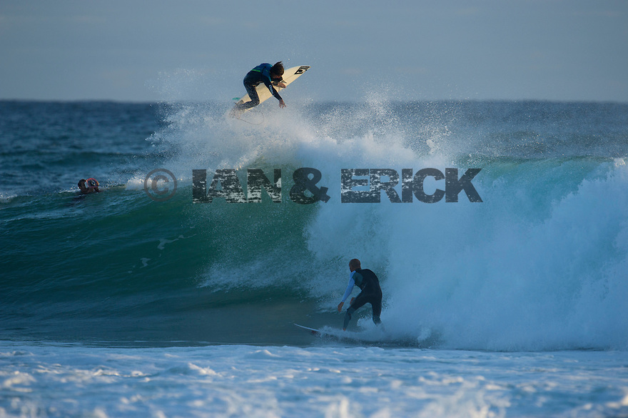 Timmy Reyes and Kelly Slate at Gas Bay in western Australia.