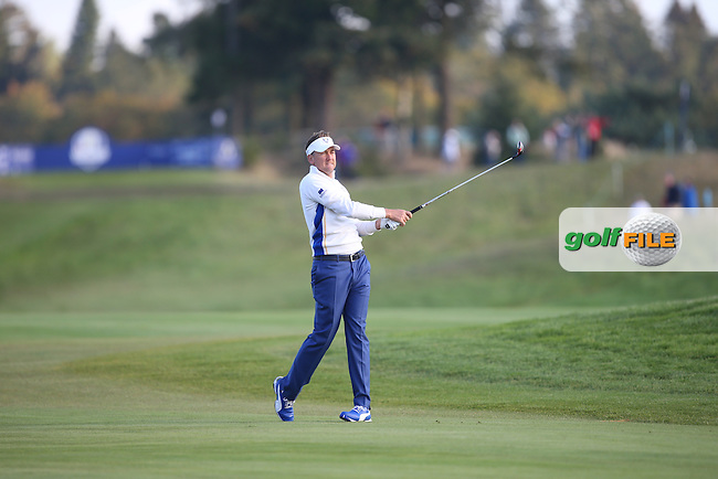 Ian Poulter (EUR) during the Saturday morning Fourballs of the 2014 Ryder Cup at Gleneagles. The 40th Ryder Cup is being played over the PGA Centenary Course at The Gleneagles Hotel, Perthshire from 26th to 28th September 2014.: Picture David lloyd, www.golffile.ie: \27/09/2014\