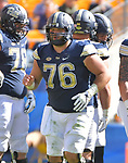 PITTSBURGH, PA, SEPT 30: The Pitt football team takes on Rice at Heinz Field in Pittsburgh, Pennsylvania on September 30, 2017. <br /> Photographer: Pete Madia/Pitt Athletics