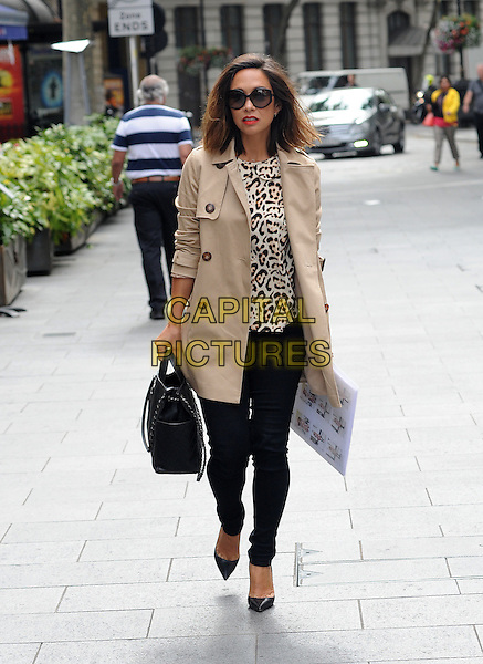 LONDON, ENGLAND - AUGUST 05: Myleene Klass arriving at Smooth FM on August 5th, 2015 in London, England.<br /> CAP/AOU<br /> &copy;AOU/Capital Pictures