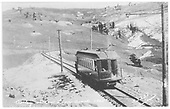 Trolley #105 on the low line.<br /> Cripple Creek, CO  1905