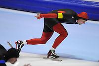 SCHAATSEN: HEERENVEEN: Thialf, 4th Masters International Speed Skating Sprint Games, 25-02-2012, Bart Seffinga (M30) 1st, ©foto: Martin de Jong