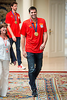 The reception of Prime Minister Mariano Rajoy to Spain national basketball team gold at EuroBasket 2015 at Moncloa Palace in Madrid, 21 September, 2015.<br /> Felipe Reyes.<br /> (ALTERPHOTOS/BorjaB.Hojas) /NortePhoto.com