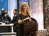 Trump campaign manager and political strategist Kellyanne Conway is seen in the lobby of Trump Tower in New York, NY, USA upon her arrival on December 12, 2016. <br /> Credit: Albin Lohr-Jones / Pool via CNP