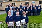 Fourth, fifth and sixth class at St Michael's National School in Sneem have launched their own book 'Step Back in Time' which takes a look at the history of their community through interviews with the older people in the local area. front l-r Ruairi Burns, Katie Galvin and Rachel O'Brien. <br /> second row l-r Colm Van Assan, Simon O'Connor, Ryan Henton, Declan O'Brien, Damien Fitzgerald, Megan O'Brien, Leah Sugrue, Christina Murphy and Jack Riney. <br /> third row l-r Mairead O'Dwyer, Lillian O'Shea, Michael O'Reardon, Kiera O'Leary, Clara Murphy, Anita Byrne, Caitriona Casey, Niamh O'Sullivan, Gemma O'Brien, Siobhan Murphy, Lucy Galvin and Eoin O'Dwyer. <br /> back l-r teacher Mike Hussey, Ciaran O'Sullivan, Martin Larkin, Ewan Buckley, Dylan Sugrue and Katie Riney.