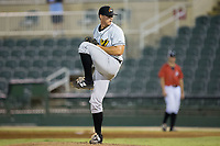 West Virginia Power relief pitcher Dylan Prohoroff (35) in action against the Kannapolis Intimidators at Kannapolis Intimidators Stadium on July 19, 2017 in Kannapolis, North Carolina.  The Power defeated the Intimidators 7-4 in 11 innings.  (Brian Westerholt/Four Seam Images)