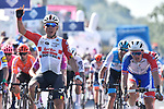 Caleb Ewan (AUS) Lotto-Soudal wins Stage 11 of the 2019 Giro d'Italia, running 221km from Carpi to Novi Ligure, Italy. 22nd May 2019<br /> Picture: Fabio Ferrari/LaPresse | Cyclefile<br /> <br /> All photos usage must carry mandatory copyright credit (© Cyclefile | Fabio Ferrari/LaPresse)